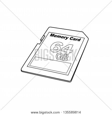 SD card drawing design - vector illustration
