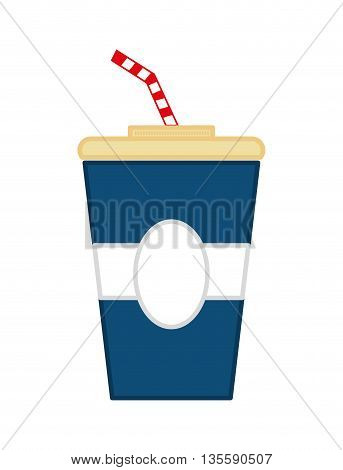 Fast food represented by coke over isolated and flat background