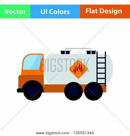 Fuel Tank Truck Icon