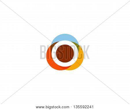 Color letter o logo icon vector design