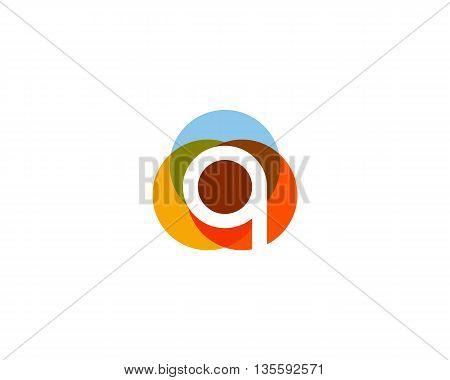 Color letter q logo icon vector design