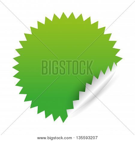 label represented by seal stamp over isolated and flat background