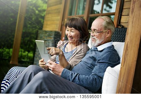 Couple Adult Happiness Laughing Holiday Concept