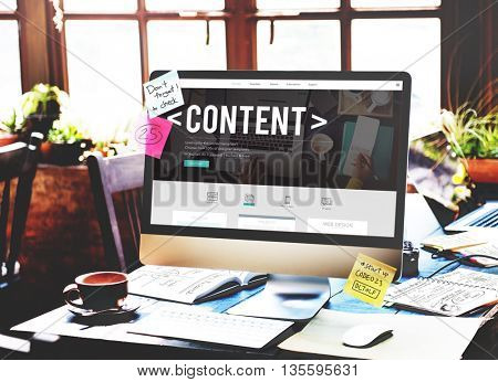 Content Data Social Media Publication Concept