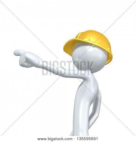 Construction Character 3D Illustration