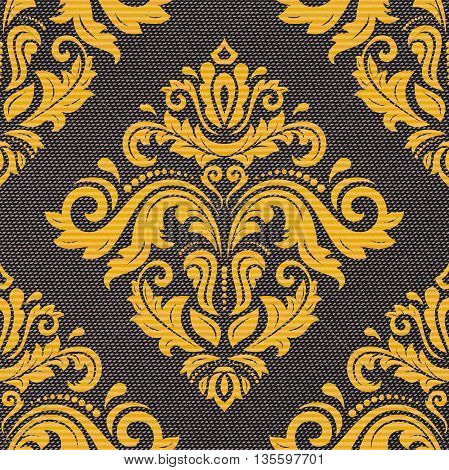 Seamless oriental pattern in the style of baroque. Traditional classic vector colored ornament