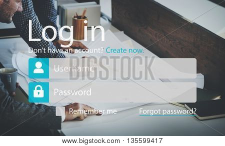 Log In Sign Up Password Security System Accessible Concept
