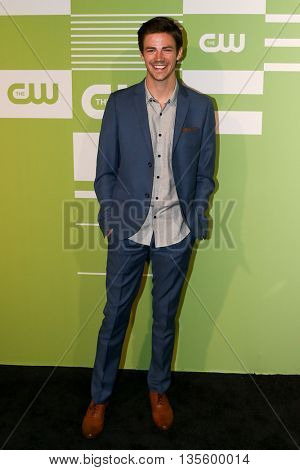 NEW YORK, NY - MAY 14: Actor Grant Gustin attends the 2015 CW Network Upfront Presentation at the London Hotel on May 14, 2015 in New York City.