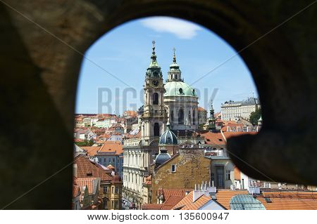 View of the Cathedral of St. Vitus, Prague Castle, Czech Republic.