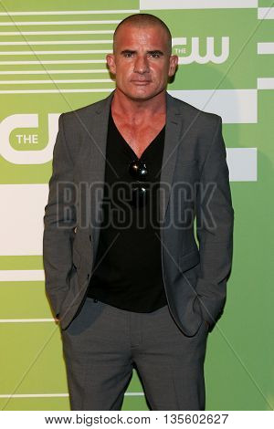 NEW YORK, NY - MAY 14: Actor Dominic Purcell attends the 2015 CW Network Upfront Presentation at the London Hotel on May 14, 2015 in New York City.