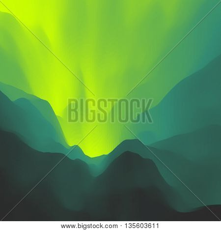 Mountain Landscape. Mountainous Terrain. Can Be Used For Banner, Flyer, Book Cover, Poster.