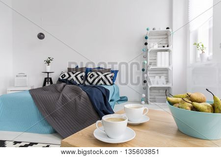 Coffee For Two In Modern Bedroom