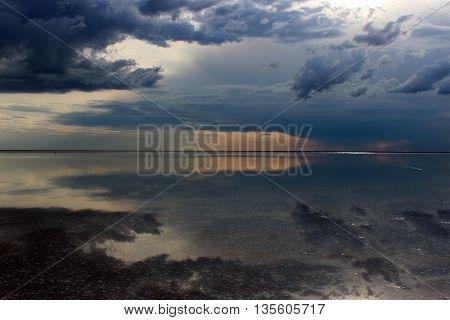 Biggest salt lake in Europe - Elton, Russia
