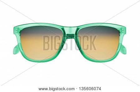 stylish sunglasses isolated on a white background