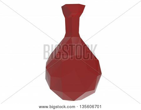 3d illustration of health potion sign. icon for game web. white background isolated.