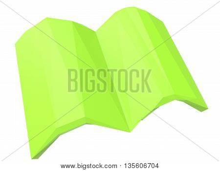 3d illustration of books. icon for game web. white background isolated with shadow. golden knowledge