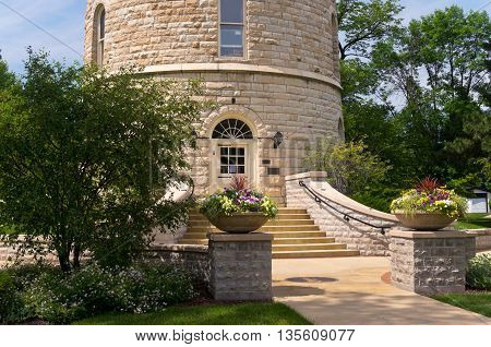 western springs historic water tower on national register of historic places in suburb of chicago illinois cook county