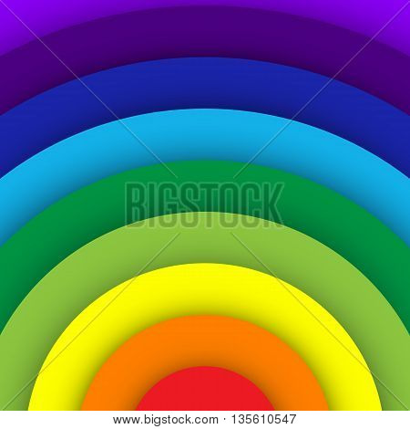 Abstract rainbow curve background, Vector illustration eps10