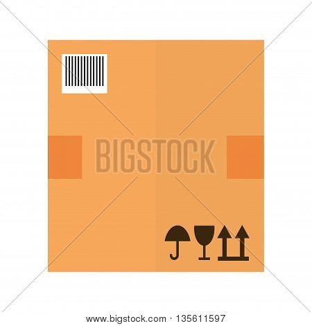 Delivery and shipping concept represented by package icon over isolated and flat background