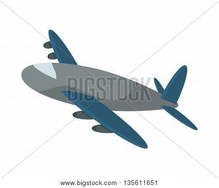 Delivery and shipping concept represented by airplane icon over isolated and flat background