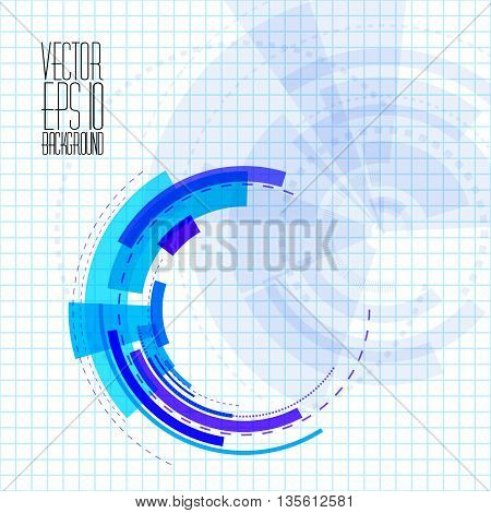 Vector Background With Techno Element.