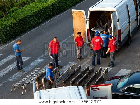 Fireworks Preparation For The Day Of St. Giovanni Battista