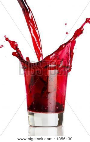 Pouring Grape Juice