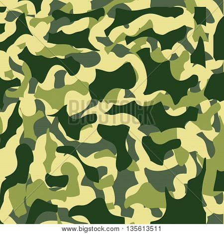 camouflage background military pattern, green colors, vector illustration