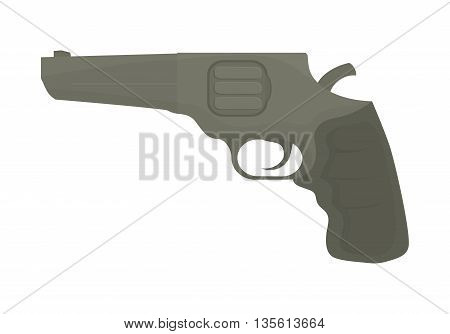 Armed forces concept represented by gun icon over isolated and flat background