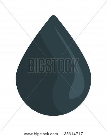 Gasoline station concept represented by drop icon over isolated and flat background
