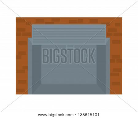 Commerce concept represented by store icon over isolated and flat background