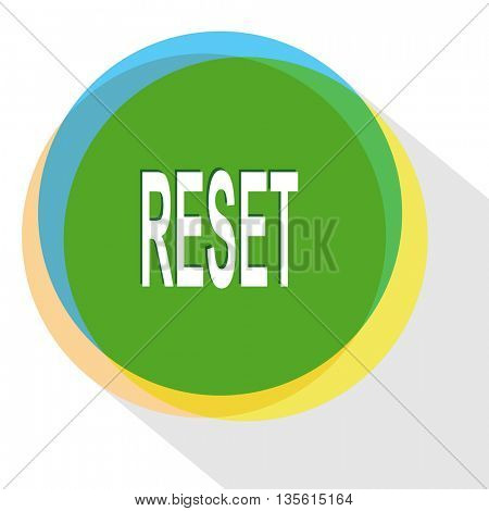 reset. Internet template. Vector icon.