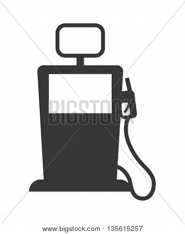 Gasoline station concept represented by dispenser icon over isolated and flat background