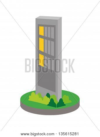 Gasoline station concept represented by road sign icon over isolated and flat background