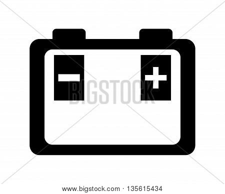 Transportation concept represented by battery icon over isolated and flat background