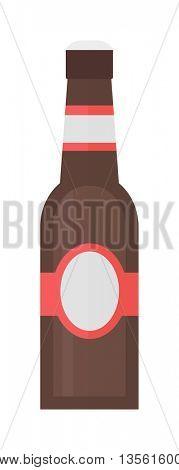 Beer bottle vector illustration.