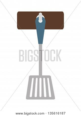 Cutlery and menu concept represented by turner icon over isolated and flat background