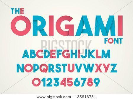 Vector of paper folding alphabet