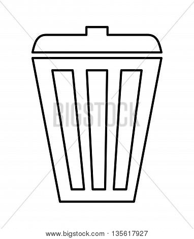 Think green concept represented by trash, icon over isolated and flat background