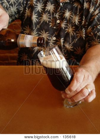 Pouring Dark Beer