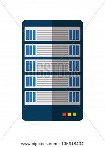 Data center concept represented by web hosting icon over isolated and flat background