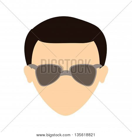 Man represented by avatar male over isolated and flat background