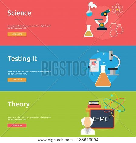 Science and Research | Set of great flat icons with style long shadow icon and use for science, research, technology, physics, chemistry and much more.