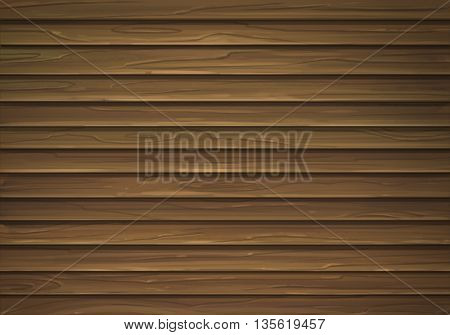 The walls are made of brown wood