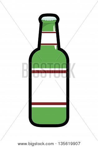 beer beverage concept represented by bottle icon over isolated and flat background