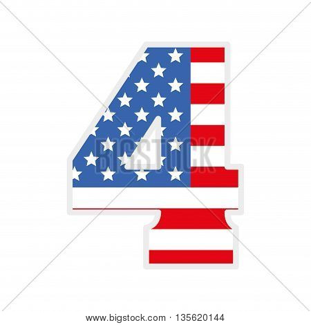 USA concept represented by four icon over isolated and flat background