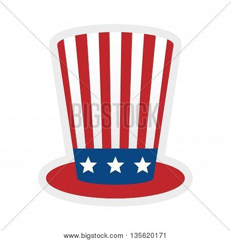 USA concept represented by hat icon over isolated and flat background
