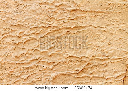 Cream stucco plaster texture surface of wall