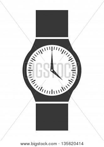 Time concept represented by traditional watch icon over isolated and flat background