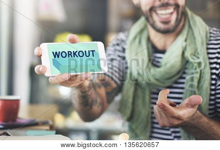 Workout Active Fitness Wellbeing Lifestyle Concept